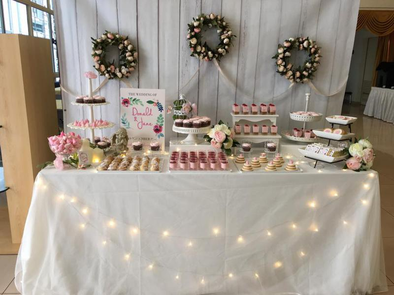 Petite desserts dessert tables delegate singapore event planning tablecloth cake decorating wedding ceremony supply wedding cake function hall buttercream icing table cake pasteles junglespirit Images